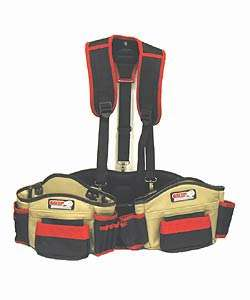 GRIP Deluxe Leather Tool Belt with Suspender Rig
