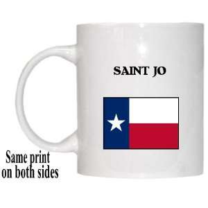 US State Flag   SAINT JO, Texas (TX) Mug