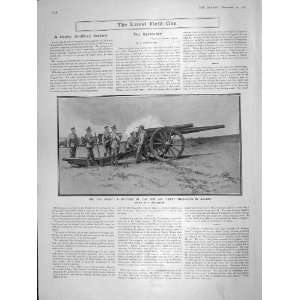 1906 ARTILLERY BATTERY 5 IN HEAVY FIELD GUNS SOLDIERS