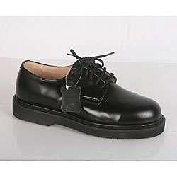 Rockman Mens Black Leather Lace up Oxford Work Shoes