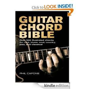 Guitar Chord Bible (Music Bibles): Phil Capone:  Kindle