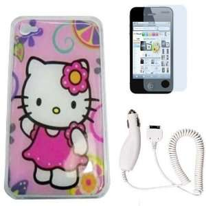 Hot Pink Kitty Hard Snap Pretector Case+Screen Protector