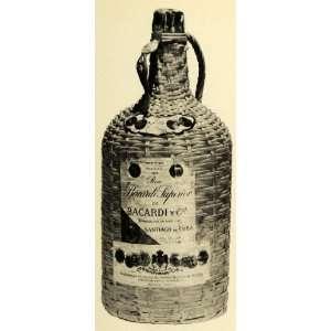 Print Bacardi Liquor Santiago Rum Alcohol Drink Spirits Beverage Drink
