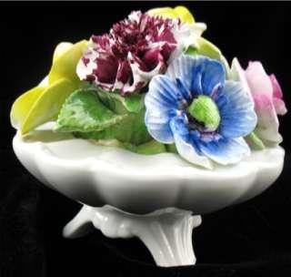 LARGE Radnor Art Pottery Bone China Staffordshire Floral Vase Basket