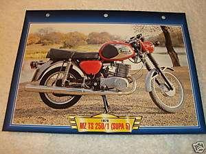 1978 MZ TS 250/1 (SUPA 5) Motorcycle PRINT 7x10 CARD