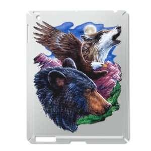 iPad 2 Case Silver of Bear Bald Eagle and Wolf: Everything Else