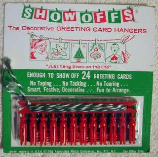 1965 SHOW OFFS Christmas Card Hanger Sets MINT