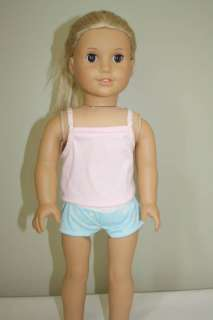 Doll Clothes fit American Girl Pink Cami/Boy Short Set