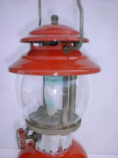 Vintage Original 1965 Red Coleman Lantern Stove Co. Mantle Lamp 200A