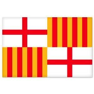 Barcelona City Flag car bumper sticker window decal 5 x 3