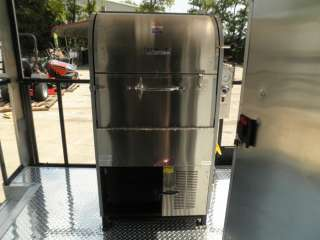 20 WHITE BBQ SMOKER FOOD EVENT ENCLOSED CONCESSION TRAILER