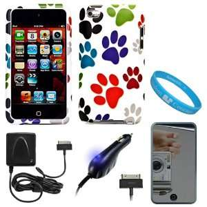 Colorful Dog Paw Design Protective 2 Piece Rubberized