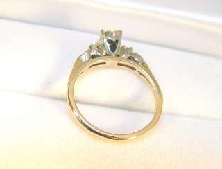 14K/18K Yellow/White Gold 3 Diamond Engagement Ring   GIA Appraised $