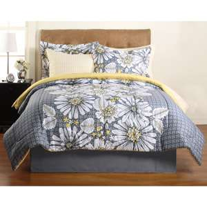 Hometrends Graphic Floral Complete Bedding Set Bedding