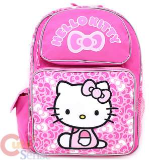 Sanrio Hello Kitty School Backpack Pink Bows Bag  16 Large