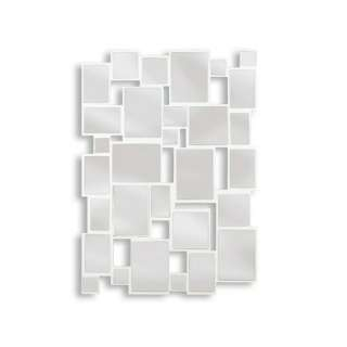Kenroy Home Hockney Wall Mirror in Gloss White Decor