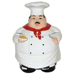 Plump Chef Hand painted Large Cookie Jar