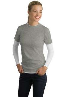 Sport Tek Ladies Long Sleeve Double Layer Tee, LST306