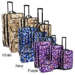 Hawaiian Print Four piece Luggage Set