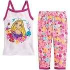 NWT Disney Store TANGLED Rapunzel sz 6 Cami Tank Pajamas Pj Pal Cotton