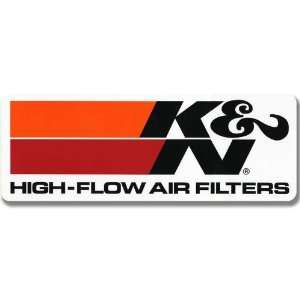 K&N 89 16167 Trailer Decal with High Flow Air Filters Logo