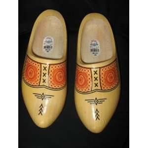 Traditional Farmer Yellow Dutch Wooden Shoes 26 cm 40 Toys & Games