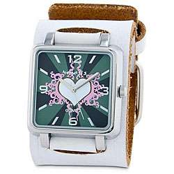 Nemesis Womens White Heart Quartz Watch