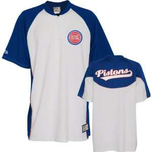 Detroit Pistons Hardwood Classics Throwback Shooting Shirt by Majestic