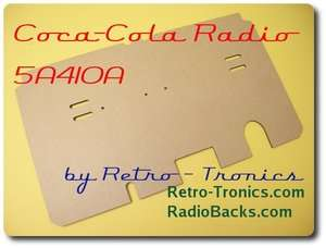 Reproduction Radio Back Coca Cola Cooler 5A410A
