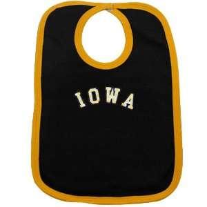 NCAA Iowa Hawkeyes Black Polka Dot Twill Bib Sports