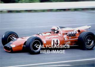 1967 A.J. FOYT #14 COYOTE FORD AUTO RACE PHOTO INDY 500