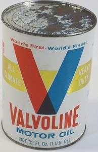 Valvoline Motor Oil Can ALL   CLIMATE HEAVY DUTY SAE 10W   20W  40