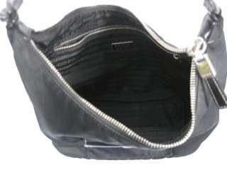 AUTHENTIC PRADA Pochette Black Nylon Bag Handbag