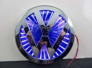 NEW 3D LED Car Decal Logo Light Badge Lamp Emblem Sticker for Blue VW