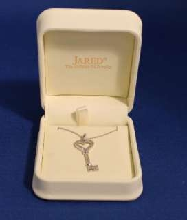 10K White Gold Diamond Heart Key Necklace by Jared Jeweler