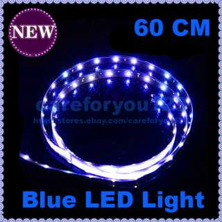 New Cool Flexible Blue 15 LED SMD Waterproof Car Light Strip