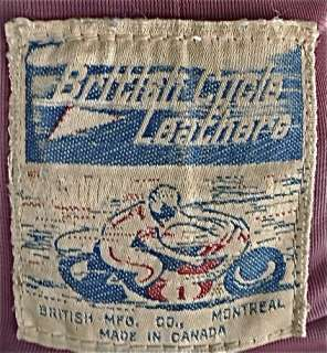 Vintage 60s BRITISH CYCLE LEATHER STEERHIDE Cafe RACER Motorcycle
