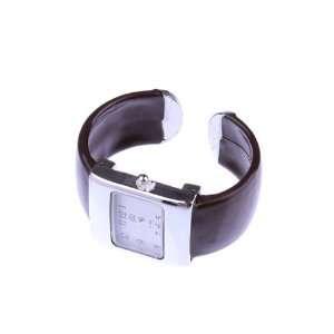 Black Big Square Bracelet Wrist Bangle Watch For Ladies Girls Women