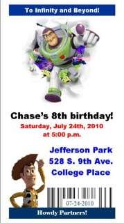 15 Toy Story 3 ticket Birthday invitations w/envelopes