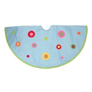 Retro Colorful Polka Dot Christmas Tree Skirt #198761