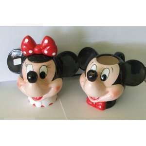 Vintage Disney Mickey and Minnie Mouse Figure Pitcher