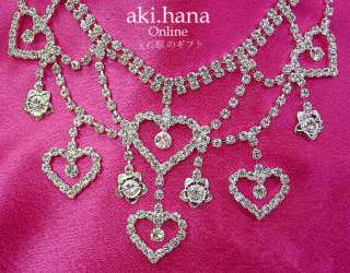 AUSTRIAN RHINESTONE CRYSTAL WEDDING NECKLACE SET #WN2