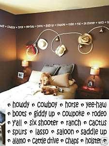 Cowboy Border Vinyl Wall Lettering Words Sticky Art