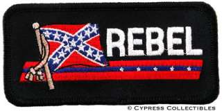 REBEL FLAG EMBROIDERED PATCH CONFEDERATE DIXIE SOUTHERN