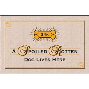 FUNNY Doormat   SPOILED ROTTEN DOG Patio, Lawn & Garden