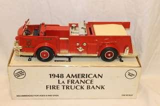 ERTL 1948 American La France Fire Truck Bank 1/30 Scale #8296