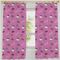 Hello Kitty Bows Pink 66 x 72 Curtains Matches Duvet 5013259265361