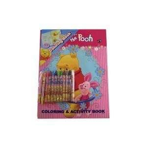 Disney Winnie the Pooh Coloring Book & 12 Crayon Set  Toys & Games