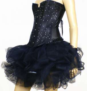 Tutu Mini Skirt Burlesque Lolita Moulin Rouge Black S M L XL Dress Up