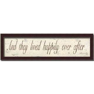 And they livedHappily Ever After Vinyl Wall Art